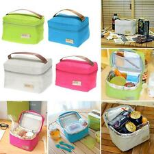 Portable Insulated Thermal Cooler Lunch Box Tote Bag Picnic Camping Storage Case