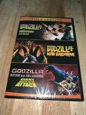Godzilla Triple Feature DVD Mothra King Ghidorah Giant Monsters All out Attack