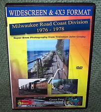 "20204 TRAIN VIDEO DVD ""MILWAUKEE ROAD COAST DIVISION"" 76-78"
