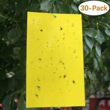 Trapro 30-Pack Yellow Sticky Fly Insect Traps For Fungus Gnats, Aphids, White