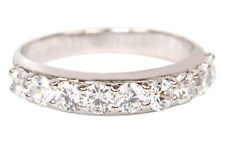 Real 14KT White Gold 0.80Ct Stunning Round Shape Solitaire Women's Band