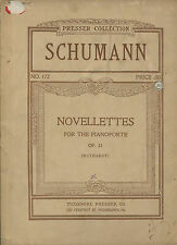Antique Piano Book, Schumann NOVELLETTES for the Pianoforte, Op. 21
