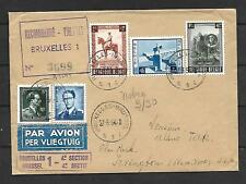 Belgium Sc B555-557  ON REGISTERED COVER TO N.Y  ARR  VF