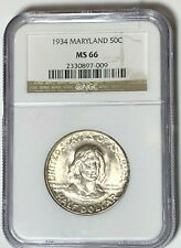 1934 Maryland Comm. Silver Half Dollar NGC MS66 : Nice Core And Nice Detail