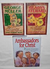 3 Books: Ambassadors for Christ - George Müller - Gladys Aylward