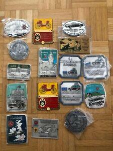 Automobilia Plaketten 16 Stück