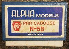 Alpha Models Ho Scale Brass Prr N-8 Caboose Unpainted Nos