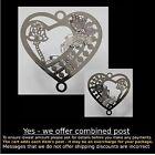 Filigree #FE30 Butterfly Heart 3D double sided joiner Silver 50mm for suncatcher