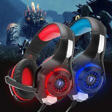 Gaming Headset Earphones Headphones EACH G9000 & Mic LED Light For PC Laptop PS4