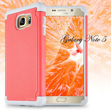 Samsung Galaxy Note 5 Hybrid Rugged TPU Rubber Shockproof Matte Slim Case Cover