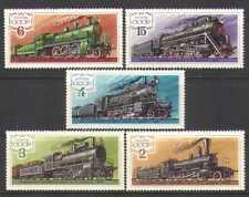 Rusia 1979 trenes/Locomotora de vapor Motor///ferrocarriles/transporte ferroviario 5 V Set n25590