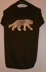 ZACK & ZOEY dog's shirt Size Large Dark brown Wild Savannah Metallic Tee