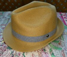 Ted Baker Straw Trilby Hat 60cm Medium/Large RRP £39.00
