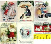 Miniature -  Christmas Children Prints  - Dollhouse 1:12 Scale