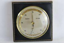 New listing Vintage German Regen Schon Wood W/ Leather Front Barometer Made In West Germany