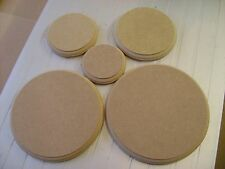 """Wooden MDF Circles Round craft plaques plinth 18mm thick 4"""" 5"""" 6""""  8"""" 10"""" 12"""""""