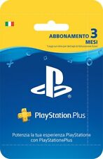 PlayStation Plus - Card Hang - Abbonamento - 3 MESI - PS4 PS3 PSVITA