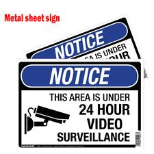Metal sheet Outdoor Security Camera Video Warning English Sign