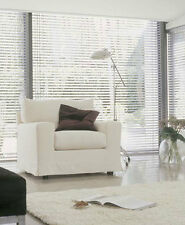 Sheer/ Voile Stripe Roller Blind White or Cream up to 1020mm Wide X 1800mm Drop