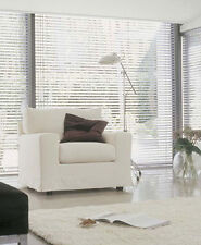 Sheer/ Voile stripe roller blind  White or Cream up to 2100mm wide x 1800mm drop