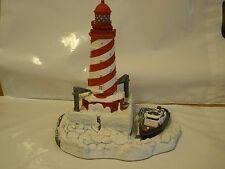 Harbour Lights Christmas White Shoal Light Mi Michigan Lighthouse 1997 #704 704