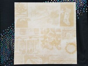 5 Sheets 12x12 Christmas Craft Paper Scrapbooking Holly Wreath Stocking Dove