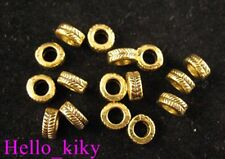 200Pcs  Antiqued gold plt carved rings spacer beads A290