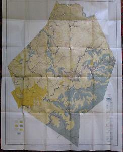 Folded Color Soil Survey Map Webster County West Virginia Springs Cowen Diana