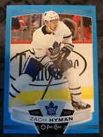 O-Pee-Chee 2019-2020 ZACH HYMAN BLUE BORDER HOCKEY CARD #401