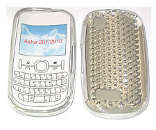 For Nokia Asha 201 / 2010 Pattern Gel Case Cover Protector Pouch Clear New UK
