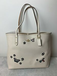 Coach Limited Edition Sounvenir Embroidery Moon Stars Bee Butterfly Floral Large