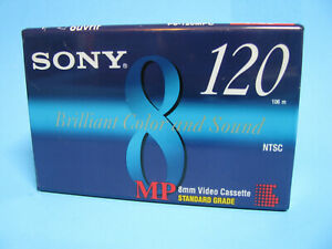 NEW Sealed Sony 8mm 120 MP Camcorder Video8 Blank Tape  NTSC P6-120MP