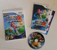 Super Mario Galaxy 2 (Nintendo Wii, 2010) Game w/ Manual & Box