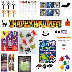 Halloween Party Bag Fillers Kids Spooky Trick or Treat Goodies - Choose items