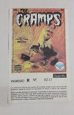 """BIGLIETTO CONCERTO """" THE CRAMPS """" 1981 FIRENZE Lux Interior Poison Ivy Ticket"""