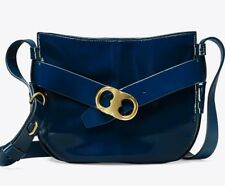 11a2accb6603 NEW Tory Burch Gemini Link Patent Leather Cross-Body Bag NWT  498 Midnight  Swim