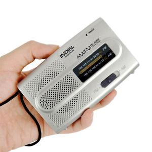 New Portable AM/FM Receiver World Universal Built in Speaker Pocket Radio