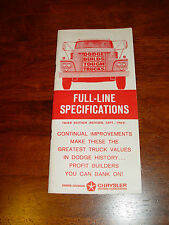 1963 Dodge Truck Full-Line Specifications Manual 3rd Edition Fantastic Shape!