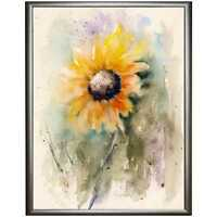 SUNFLOWER PAINTING Signed Limited Edition PRINT of Watercolour by Diane Antone