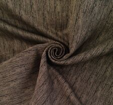 6 Metres Tweed Feel Chenille Curtain & Upholstery Fabric In Black & Mink