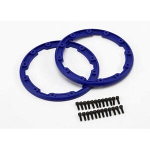 Traxxas 5666 Beadlock Style Sidewall Protectors (2) Blue: Revo