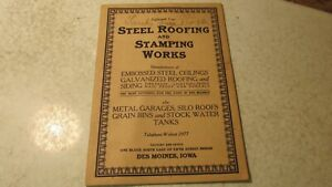 Antique Steel Roofing & Stamping Works Des Moines Iowa Ceilings