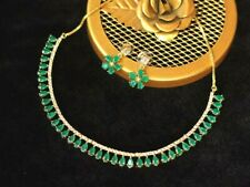 Diamond Necklace Set Indian Ruby Jewelry Bollywood Women Fashion Earrings Sets
