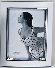 685087 Fotorahmen 10x15 Weiss silber Foto Rahmen aus weissem Alu mit Silberrand