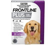 Frontline Plus For Large Dogs 20 - 40 Kg 6 Pack Kill Fleas Fast