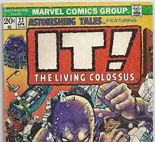 ASTONISHING TALES #23 with IT! The Living Colossus from Apr. 1974 in G/VG Con.