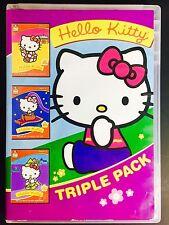 ~ VINTAGE 1987 HELLO KITTY TRIPLE PACK [DVD] MOVIES [3 On 2 Disc Set] Cartoon's