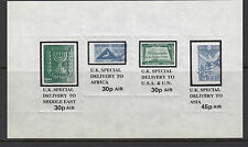 1971 STRIKE MAIL- UK special delivery set minisheet - MNH