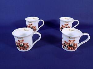 Harrods Knightsbridge Teddy Bear Mugs x 4