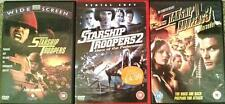 STARSHIP TROOPERS TRILOGY 1,2,3 [One,Two,Three] Epic Action Sci-Fi DVD *EXC*